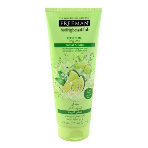 Freeman Feeling Beautiful Facial Scrub, Refreshing Key Lime, All Skin Types, 175ml