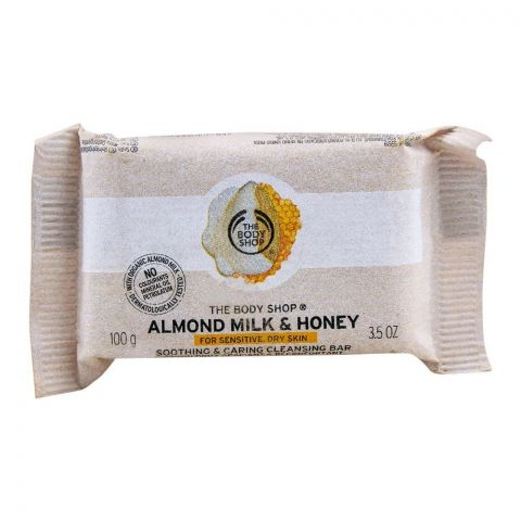 The Body Shop Almond Milk & Honey Soap, For Sensitive/Dry Skin, 100g