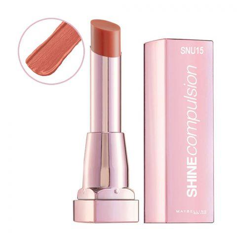 Maybelline Shine Compulsion Lipstick, Nude Pink, SNU15