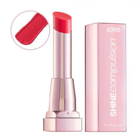 Maybelline Shine Compulsion Lipstick, Freshly Kissed, SOR05