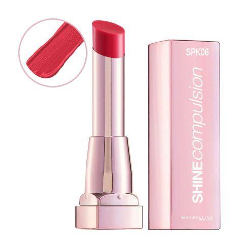 Maybelline Shine Compulsion Lipstick, Pink Grapefruit, SPK06