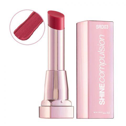 Maybelline Shine Compulsion Lipstick, Luscious Red, SRD03