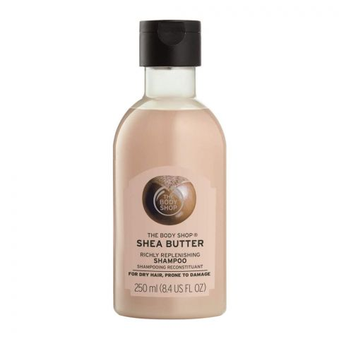 The Body Shop Shea Butter Richly Replenishing Shampoo, For Dry Hair/Prone To Damage, 250ml