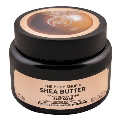 The Body Shop Shea Butter Richly Replenishing Hair Mask, For Dry Hair, Prone To Damage, 240ml