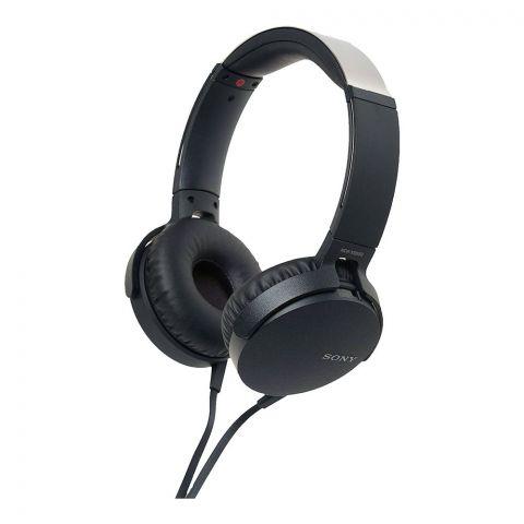 Sony Extra Bass Stereo Headphone, Black, MDR-XB550AP