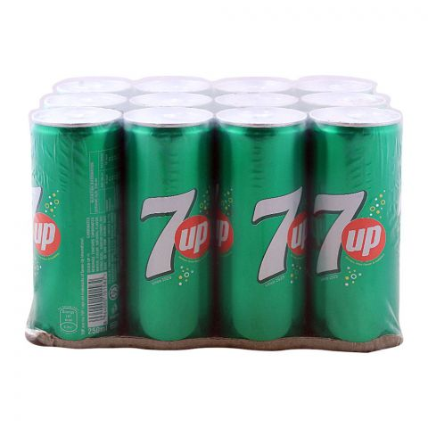 7UP Can (Local) 250ml, 12 Pieces