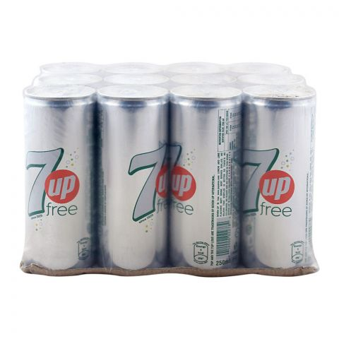 7UP Free Can (Local) 250ml, 12 Pieces