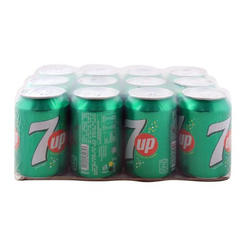 7UP Can (Local) 300ml, 12 Pieces