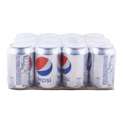 Pepsi Diet Can (Local) 300ml, 12 Pieces