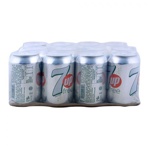 7UP Free Can (Local) 300ml, 12 Pieces