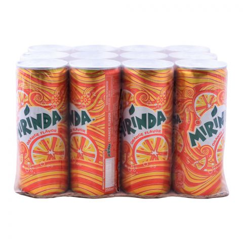 Mirinda Can (Local) 250ml, 12 Pieces