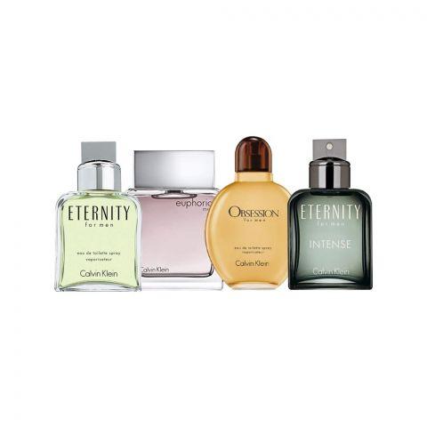 Calvin Klein Mini Perfume Set For Men, 4-Pack, Euphoria, Eternity, Obsession & Eternity Intense