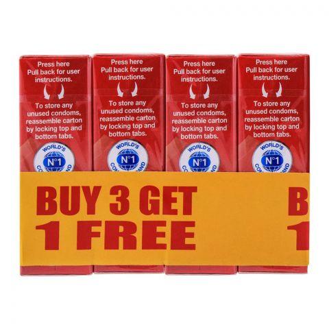 Durex Fetherlite Thin Condoms, Buy 3 Get 1 Free