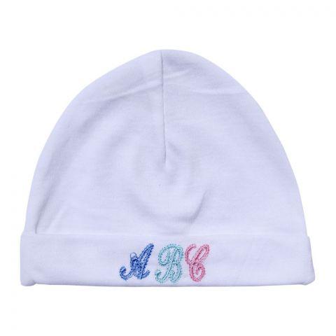Angel's Kiss Baby Round Cap, White