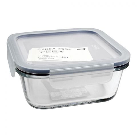 IKEA 365+ Glass Food Container, 6x6x2 Inches, 359206