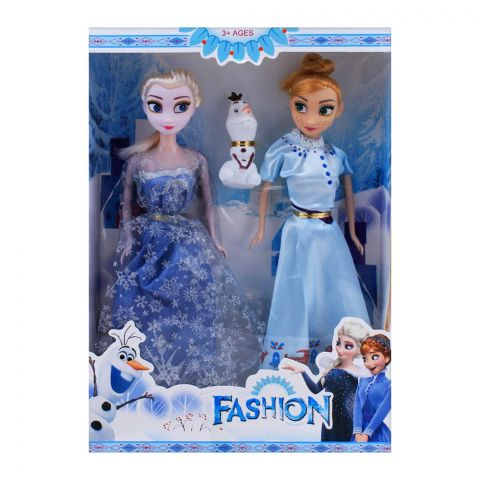 Live Long Double Frozen Doll 11.5 Inches With Surprise Toy, 2012E
