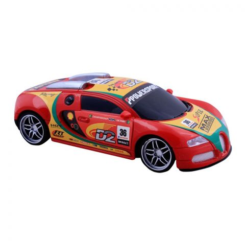 Live Long Remote Control (RC) Bugatti Car, Red, 345-138-R