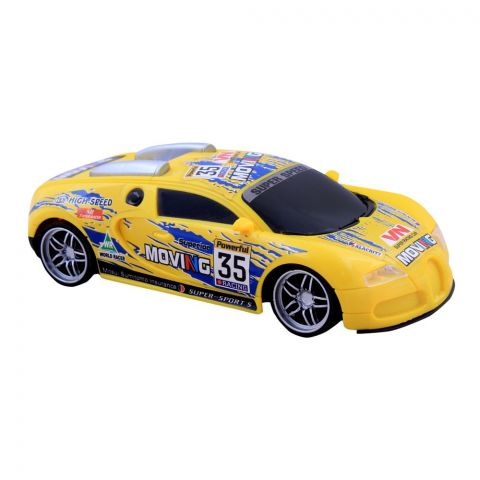Live Long Remote Control (RC) Bugatti Car, Yellow, 345-138-Y