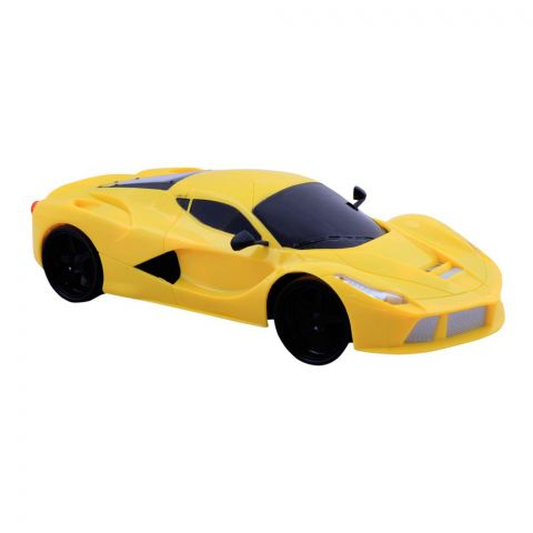 Live Long Remote Control (RC) Ferrari Car, With Gravity Sensor Yellow, 345-184-Y