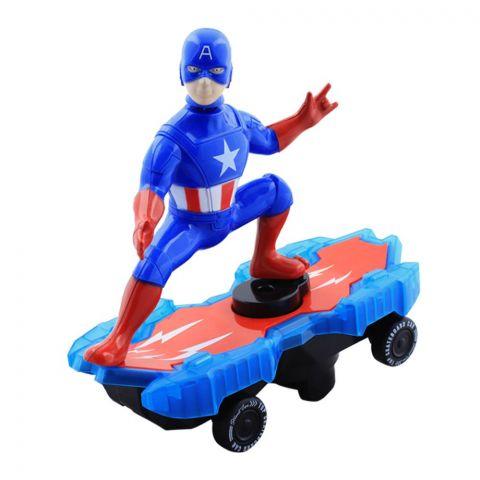 Live Long Avengers Captain America Skateboard, LD-112A-1-C