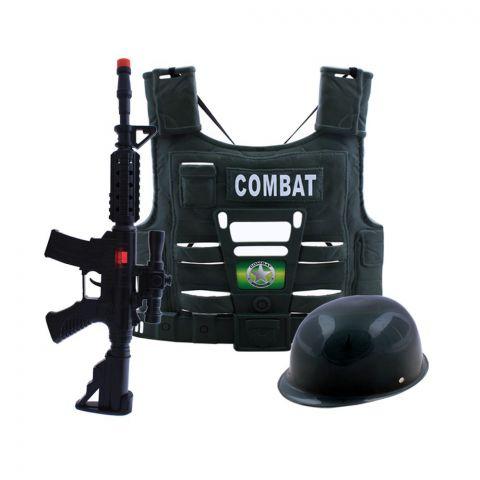 Live Long Military Combat Set With Gun, Helmet & Jacket, LY-601