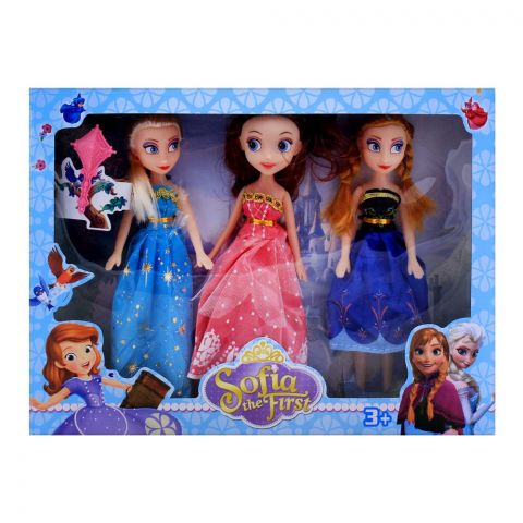 Live Long Sofia Doll 9 Inches Set 3-Pack, SF-401