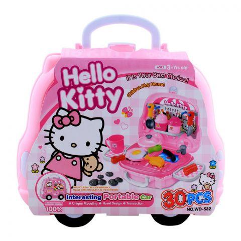 Live Long Hello Kitty Kitchen Portable Car Set, WD-S32