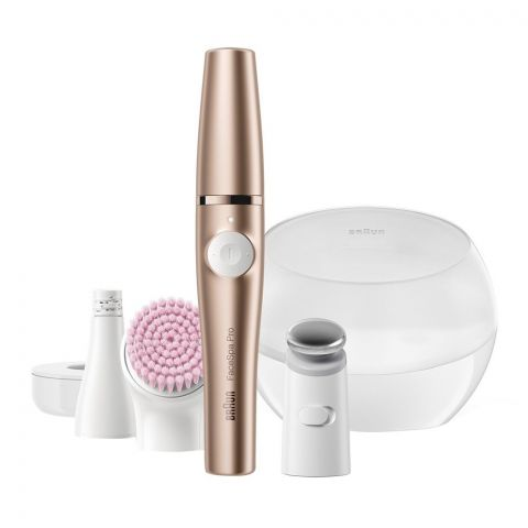 Braun FaceSpa Pro 3-in-1 Facial Epilator, Rose Gold, 921