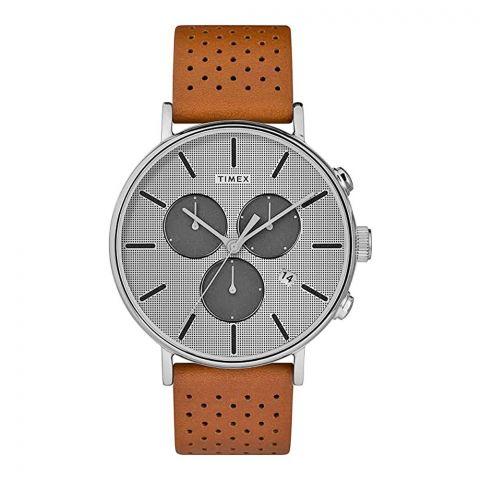 Timex Men's Fairfield Chronograph Supernova Leather Strap Watch, 41mm, TW2R79900