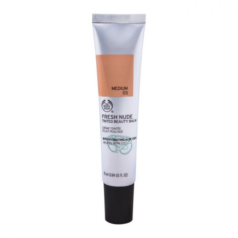 The Body Shop Fresh Nude Tinted Beauty Balm, 03 Medium, SPF 30 PA+++, 25ml