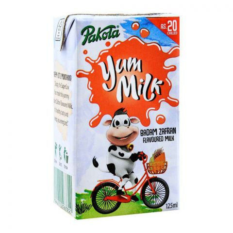 Pakola Yum Milk, Badam Zafran Flavor, 125ml
