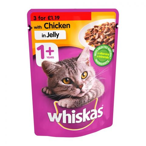 Whiskas Chicken In Jelly Cat Food, 1+ Years, 100g