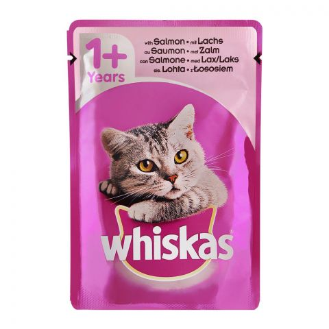 Whiskas Salmon Fish In Jelly Cat Food, 1+ Years, 100g