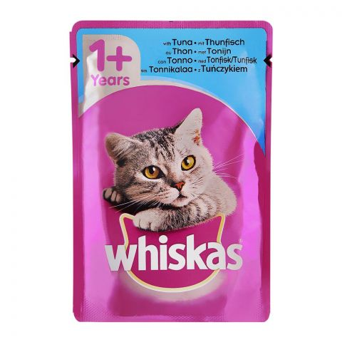 Whiskas Tuna Fish In Jelly Cat Food, 1+ Years, 100g