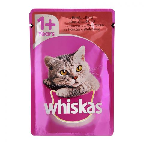 Whiskas Beef In Jelly Cat Food, 1+ Years, 100g