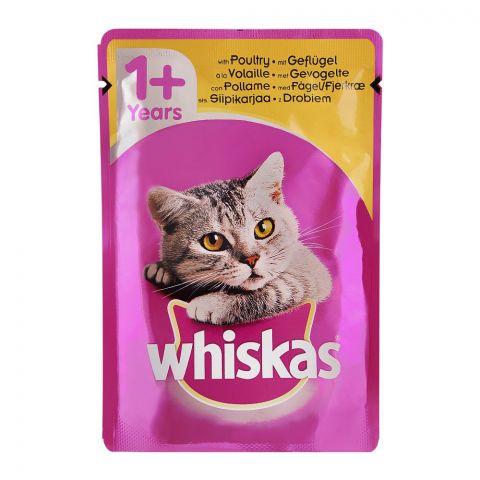 Whiskas Poultry In Jelly Cat Food, 1+ Years, 100g