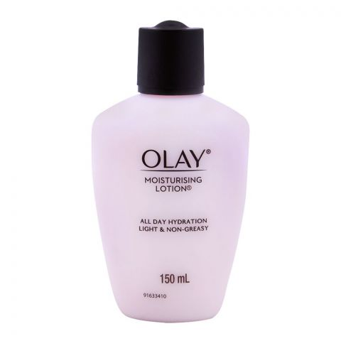 Olay Moisturizing Lotion, All Day Hydration, Light & Non-Greasy, 150g