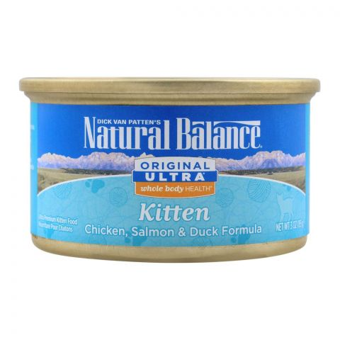 Natural Balance Kitten Chicken, Salmon & Duck Cat Food, 85g, (Tin)
