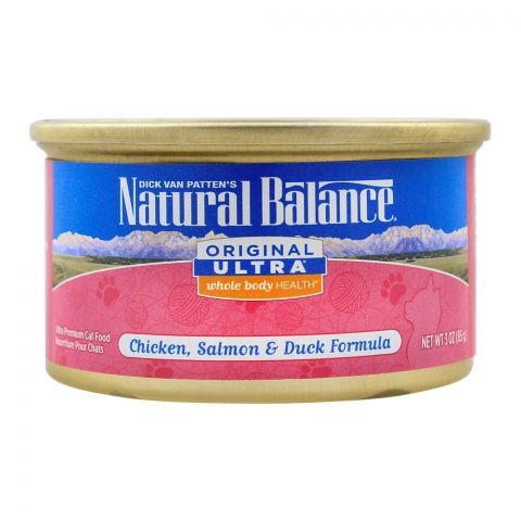 Natural Balance Chicken, Salmon & Duck Cat Food, 85g, (Tin)