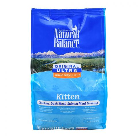 Natural Balance Kitten Chicken, Duck Meal & Salmon Meal Cat Food, 907g, (Pouch)