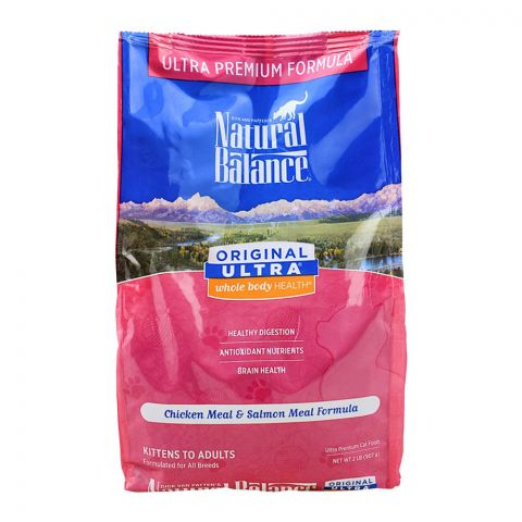 Natural Balance Chicken Meal & Salmon Meal Cat Food, 907g, (Pouch)