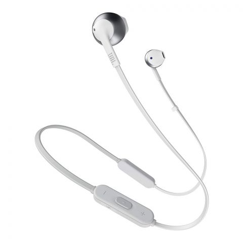 JBL Tune 205BT Pure Bass Zero Cables Wireless In-Ear Headphones, Silver
