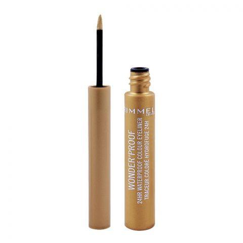 Rimmel Wonder'Proof 24HR Waterproof Colour Eyeliner, 007 Shiny Gold