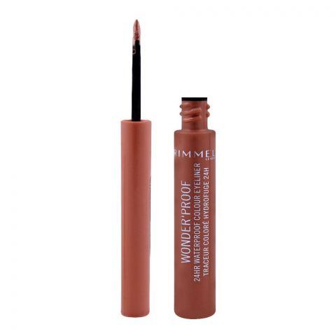 Rimmel Wonder'Proof 24HR Waterproof Colour Eyeliner, 001 True Copper