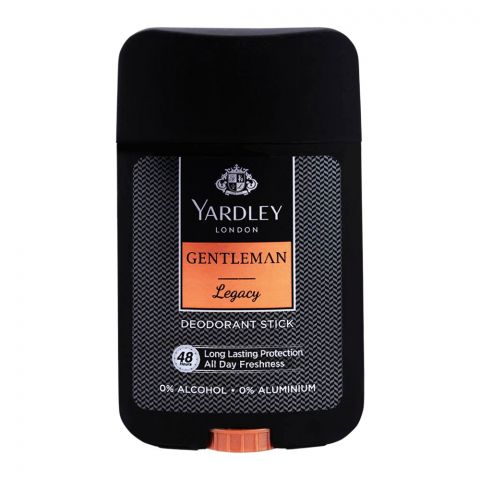 Yardley Gentleman Legacy Deodorant Stick, 0% Alcohol, 50ml