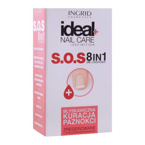 Ingrid Ideal+ Nail Care S.O.S 8-In-1 Nail Conditioner, 7ml