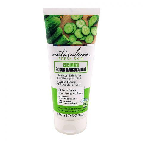 Naturalium Fresh Skin Cucumber Scrub Invigorating, All Skin Types, 175ml