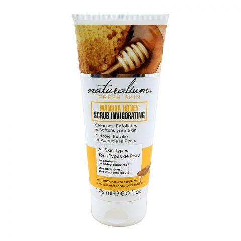 Naturalium Fresh Skin Manuka Honey Scrub Invigorating, All Skin Types, 175ml
