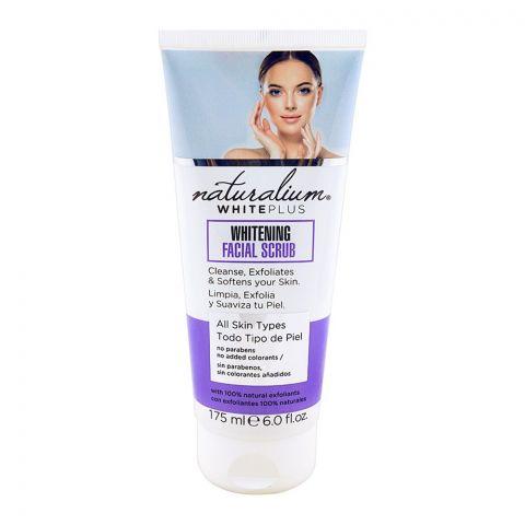 Naturalium White Plus Whitening Facial Scrub, All Skin Types, 175ml