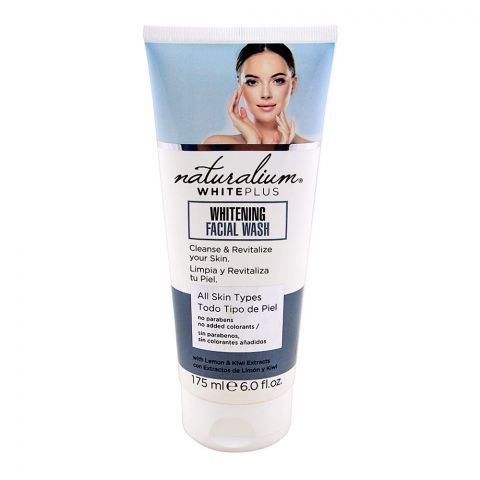 Naturalium White Plus Whitening Facial Wash, All Skins Types, 175ml